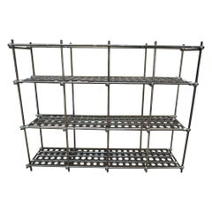 Large Industrial Adjustable Shelve from French Factory, circa 1950