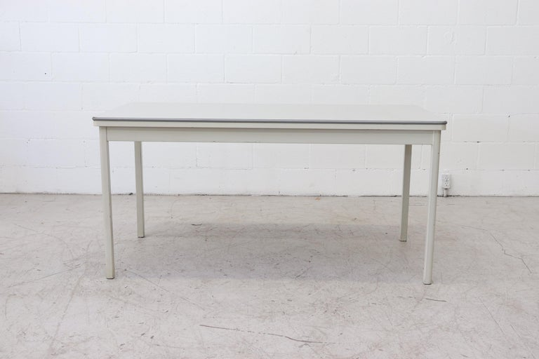 Mid-Century Modern Large Industrial Ahrend de Cirkel Dining or Conference Table For Sale