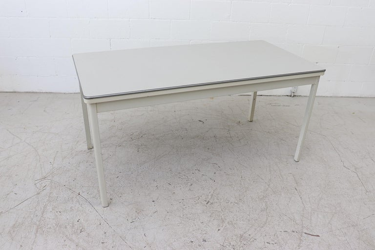 Enameled Large Industrial Ahrend de Cirkel Dining or Conference Table For Sale