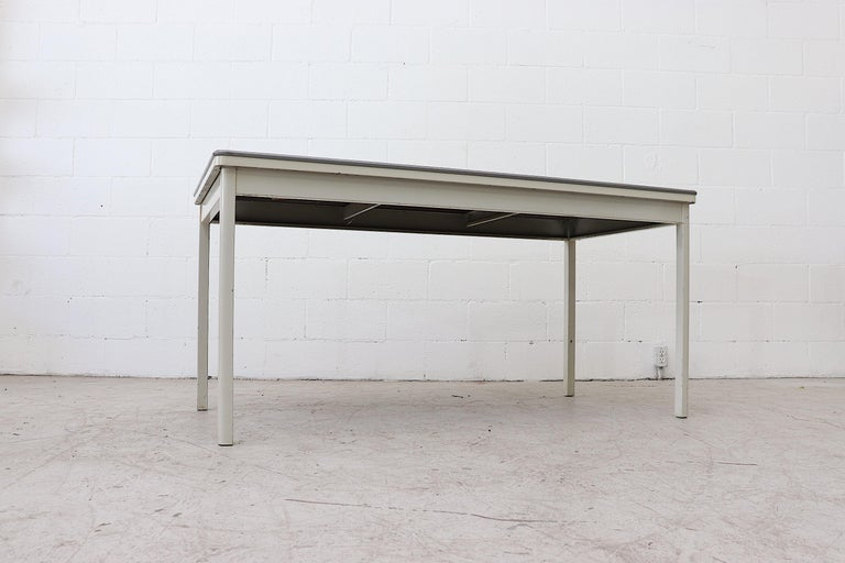 Large Industrial Ahrend de Cirkel Dining or Conference Table In Good Condition For Sale In Los Angeles, CA