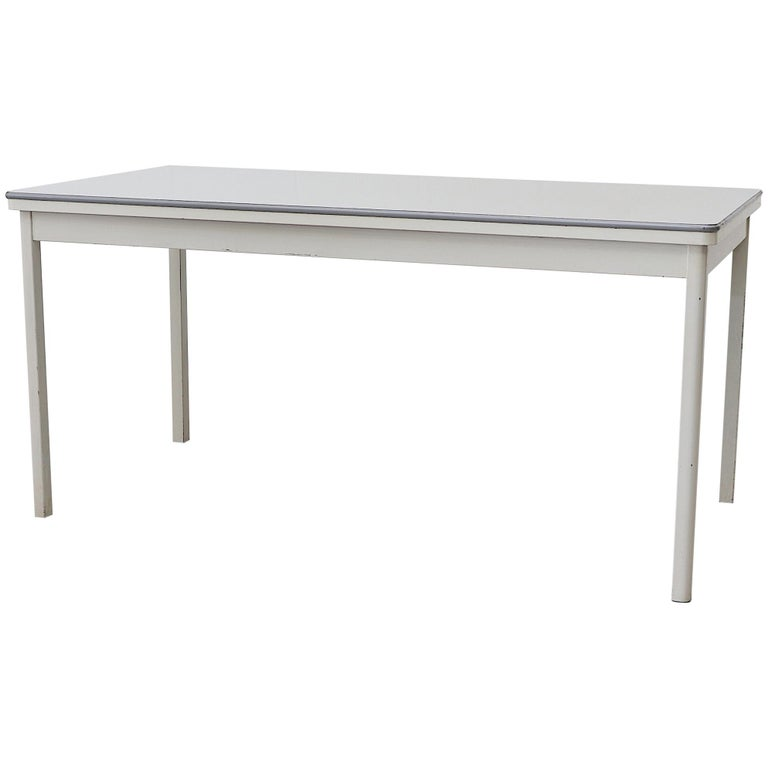 Large Industrial Ahrend de Cirkel Dining or Conference Table For Sale