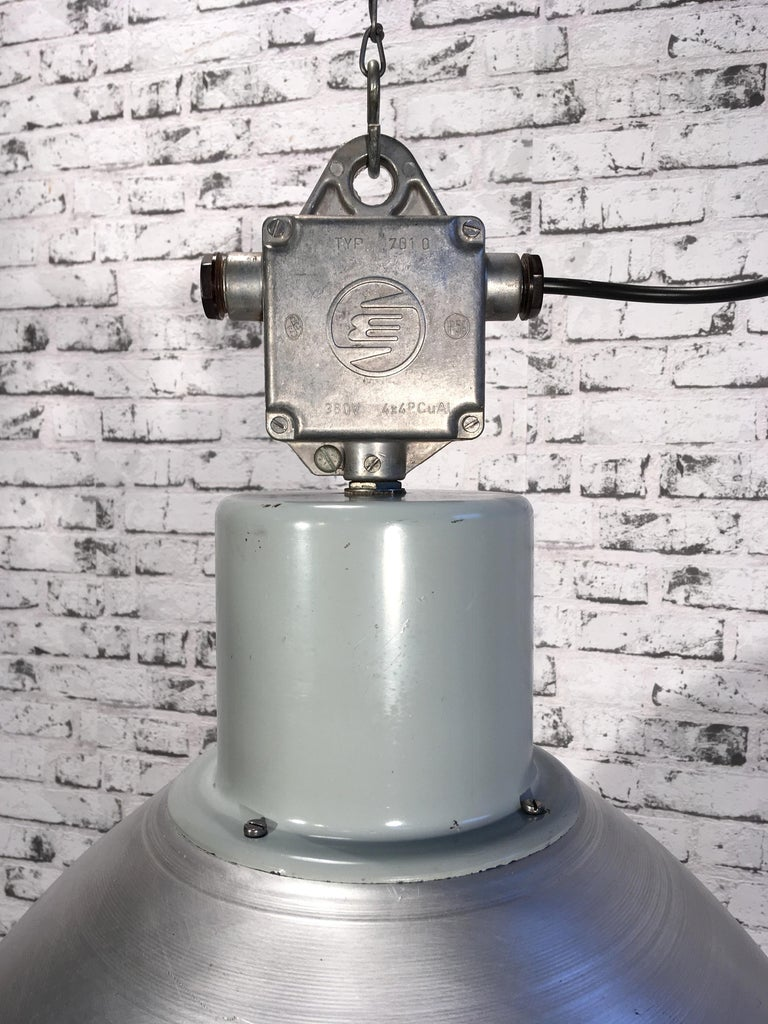 Czech Large Industrial Aluminium Pendant Light, 1960s For Sale