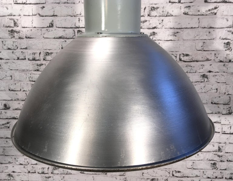Large Industrial Aluminium Pendant Light, 1960s In Good Condition For Sale In Mratin, CZ