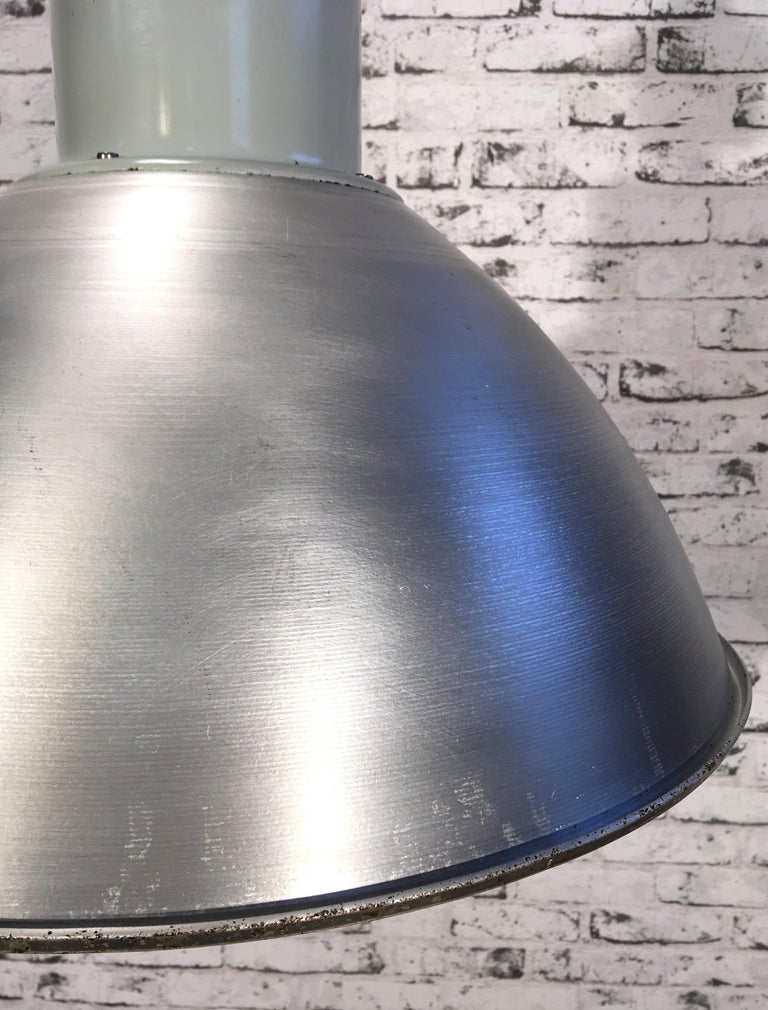 Mid-20th Century Large Industrial Aluminium Pendant Light, 1960s For Sale