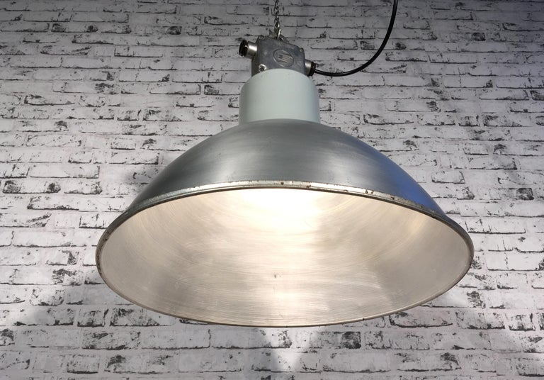 Large Industrial Aluminium Pendant Light, 1960s For Sale 1