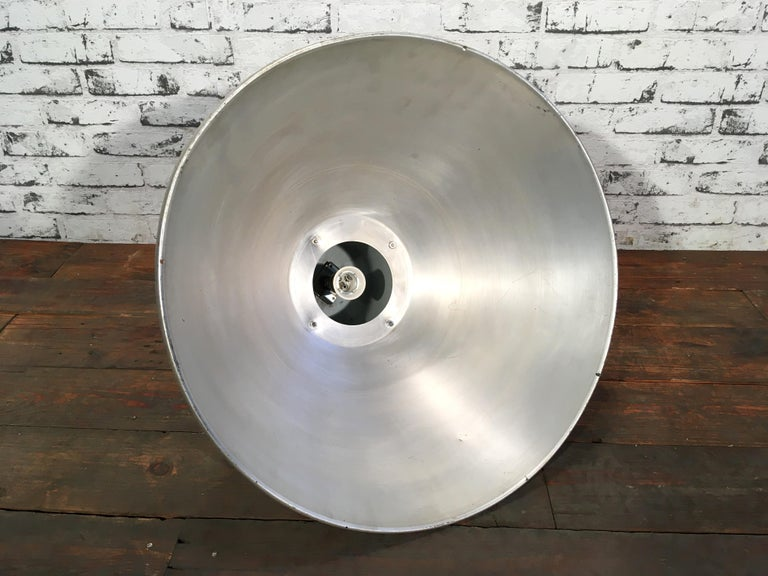Large Industrial Aluminium Pendant Light, 1960s For Sale 2