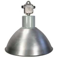 Large Industrial Aluminium Pendant Light, 1960s