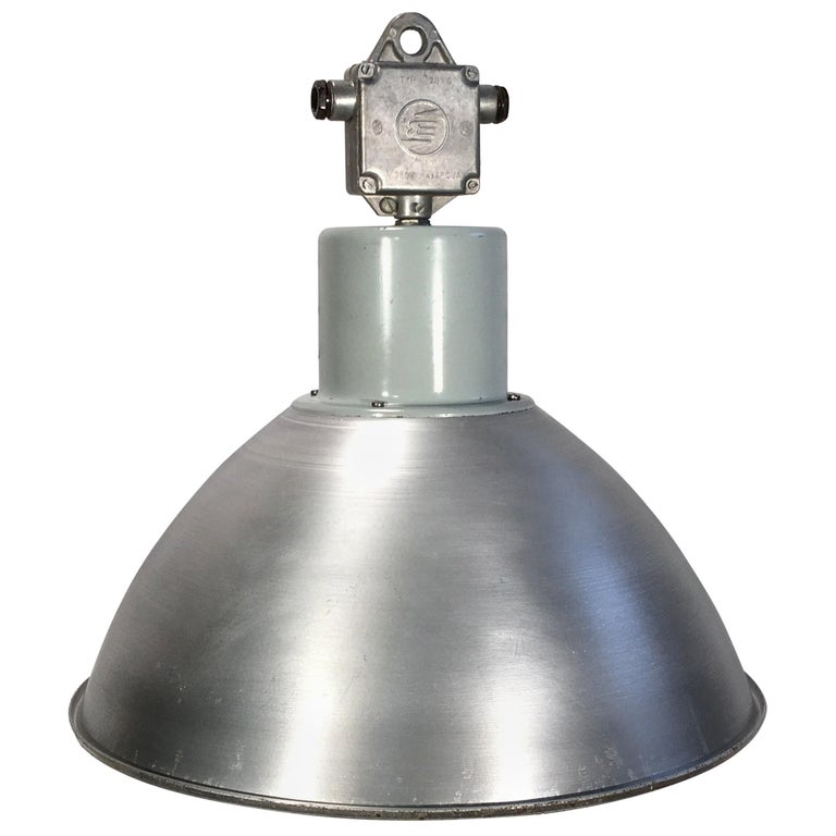 Large Industrial Aluminium Pendant Light, 1960s For Sale