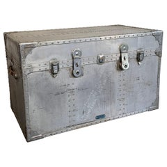 Large Industrial Aluminum Military Trunk