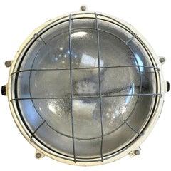 Large Industrial Cast Aluminium Wall or Ceiling Lamp from Elektrosvit, 1970s