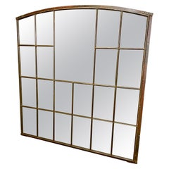 Large Industrial Cast Iron Window with Mirror, 1930s