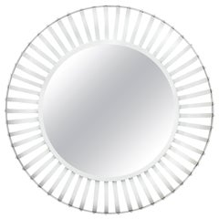 Large Industrial Iron Mirror