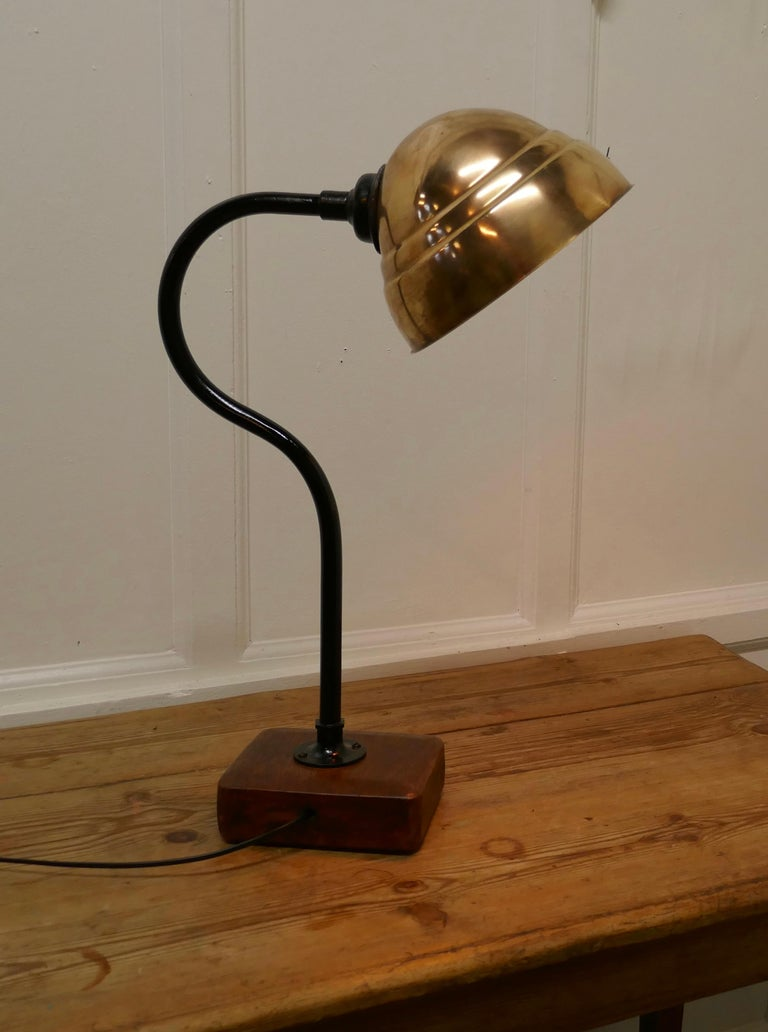 20th Century Large Industrial Look Desk Lamp For Sale