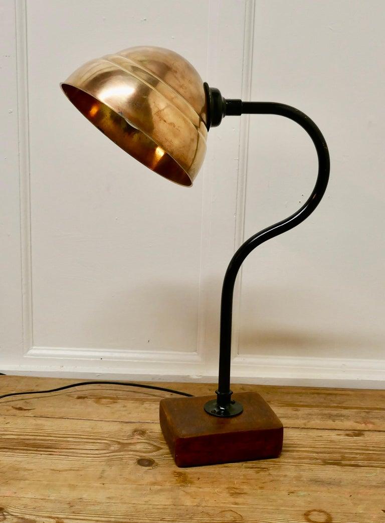 Large Industrial Look Desk Lamp For Sale 1