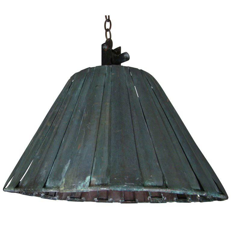 Large Metal Lamp Shade: Large Industrial Metal Ceiling Pendant In Shape Of A Lamp
