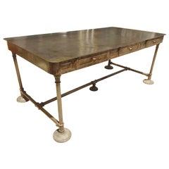 Large Industrial Metal Desk