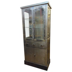 Large Industrial Metal Display Cabinet