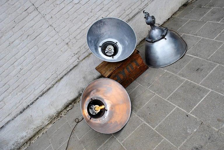 Latvian Large Industrial Pendant Lights For Sale