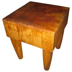 Large Industrial Size Maple Butchers Block Table