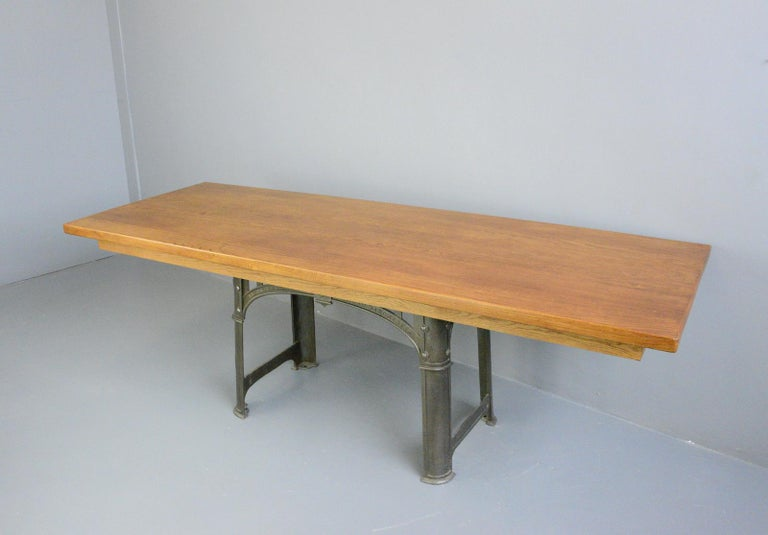 Large Industrial Table by Richmond & Chandler, Circa 1910 For Sale 4