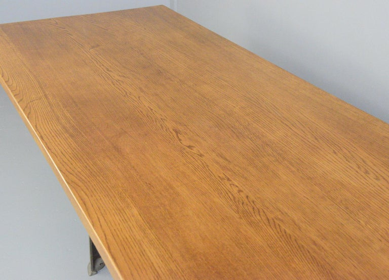 Large Industrial Table by Richmond & Chandler, Circa 1910 For Sale 5