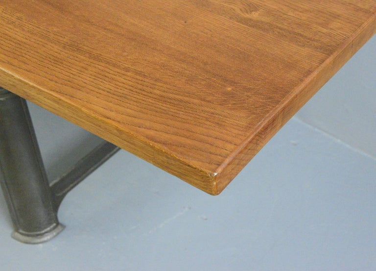 English Large Industrial Table by Richmond & Chandler, Circa 1910 For Sale