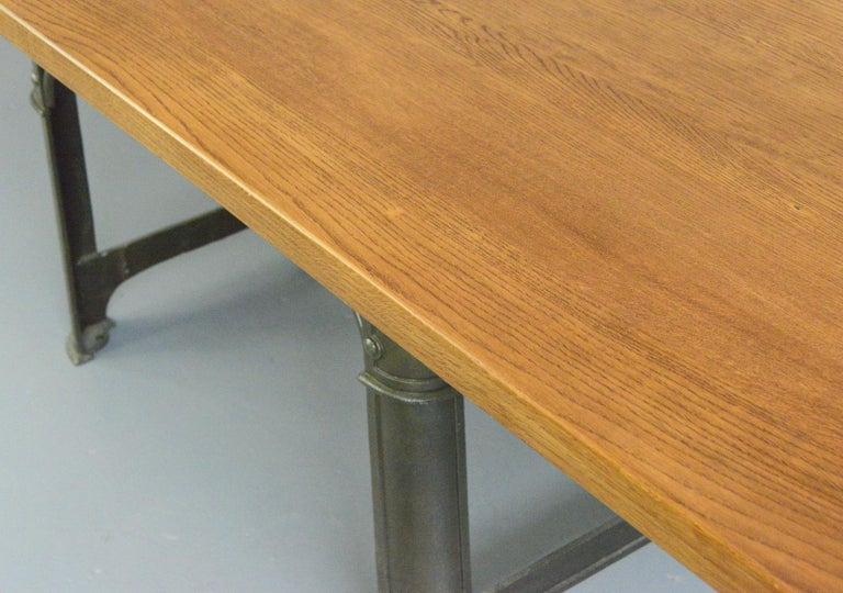 Large Industrial Table by Richmond & Chandler, Circa 1910 In Good Condition For Sale In Gloucester, GB