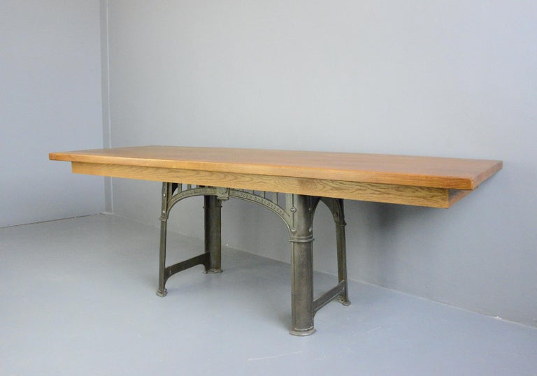 Large Industrial Table by Richmond & Chandler, Circa 1910 For Sale 3