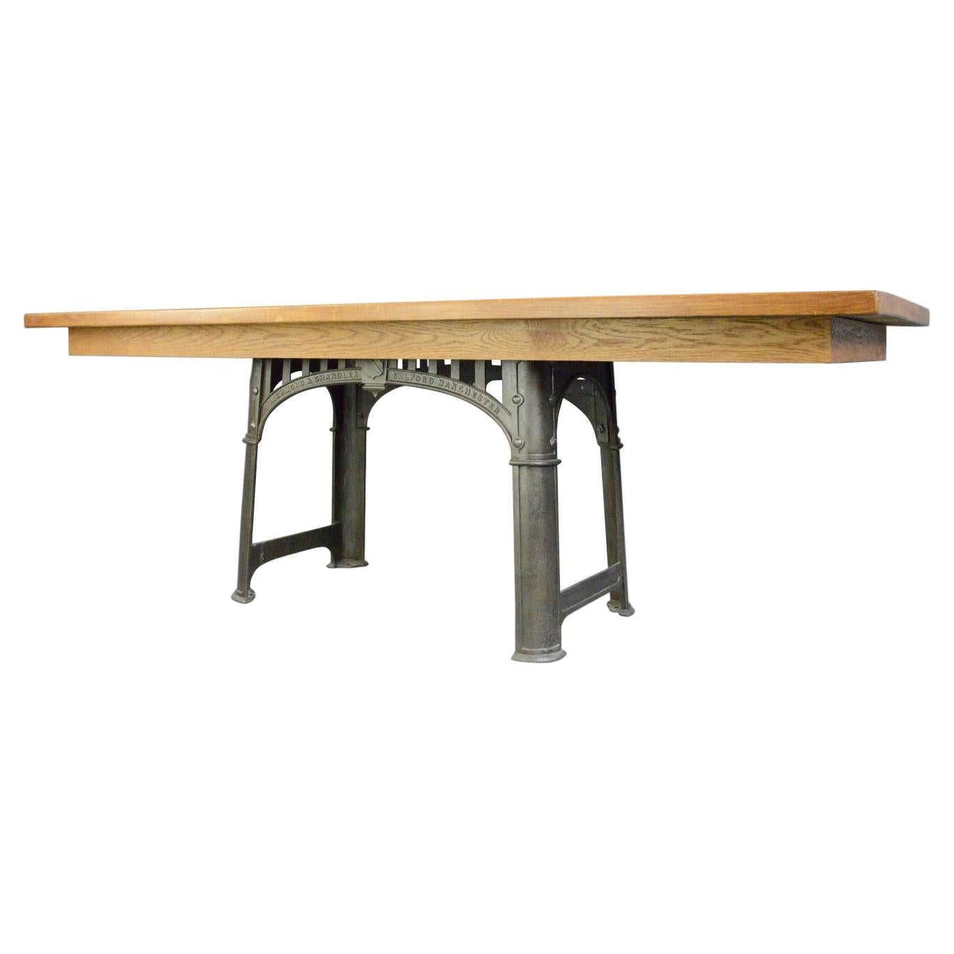 Large Industrial Table by Richmond & Chandler, Circa 1910