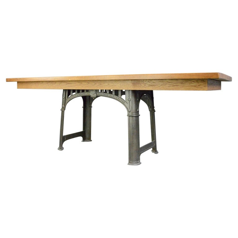 Large Industrial Table by Richmond & Chandler, Circa 1910 For Sale