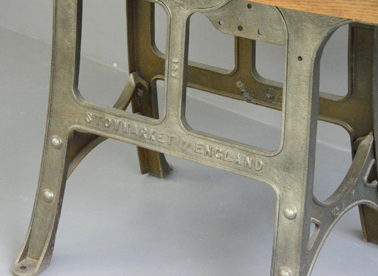 English Large Industrial Table by Woods & Co, Circa 1910 For Sale
