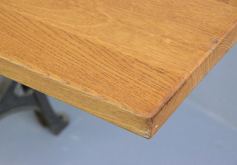 Large Industrial Table by Woods & Co, Circa 1910 In Good Condition For Sale In Gloucester, GB