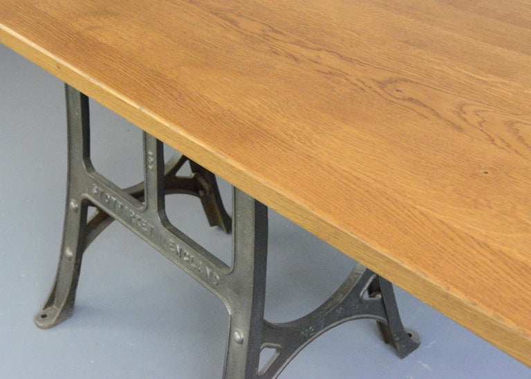 Early 20th Century Large Industrial Table by Woods & Co, Circa 1910 For Sale
