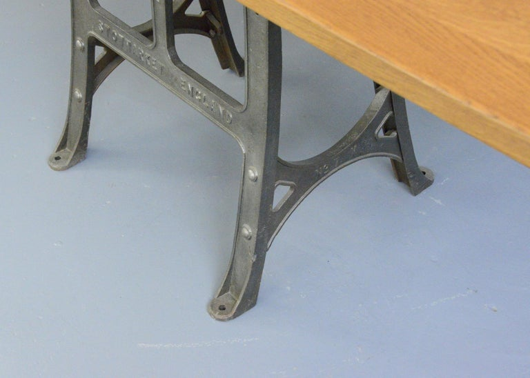 Iron Large Industrial Table by Woods & Co, Circa 1910 For Sale