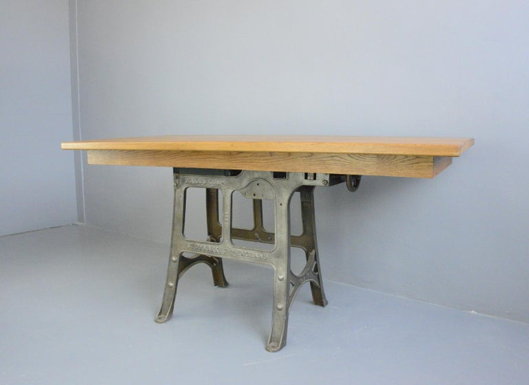 Large Industrial Table by Woods & Co, Circa 1910 For Sale 1