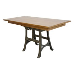 Large Industrial Table by Woods & Co., circa 1910