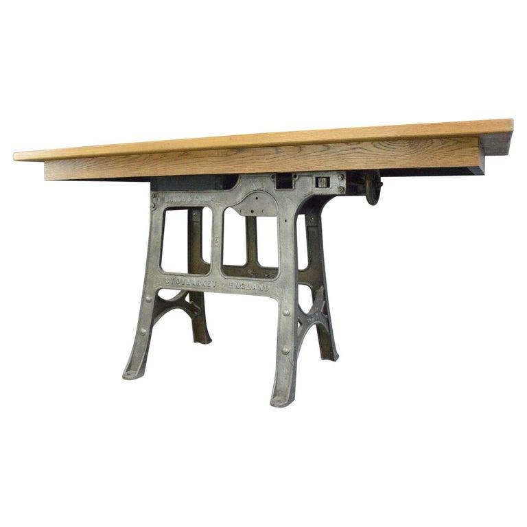 Large Industrial Table by Woods & Co, Circa 1910 For Sale