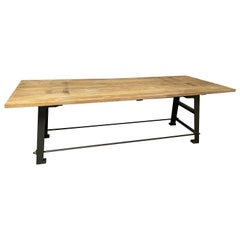 Large Industrial Worktable or Kitchen Island