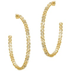 Large Infinity Pave Hoops
