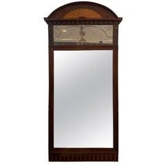 Large Inlaid Mahogany Mirror