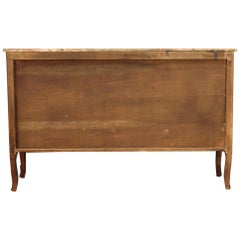Large Inlaid Sideboard with Marble Top, 20th Century