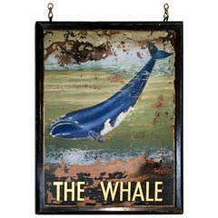 "Large Irish Pub Sign for ""The Whale"", circa 1920s"