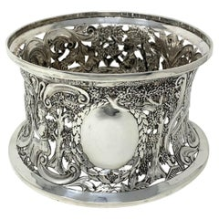 Large Irish Sterling Silver Dish Ring by Thomas Weir Dublin Ireland 1925 14.8ozs