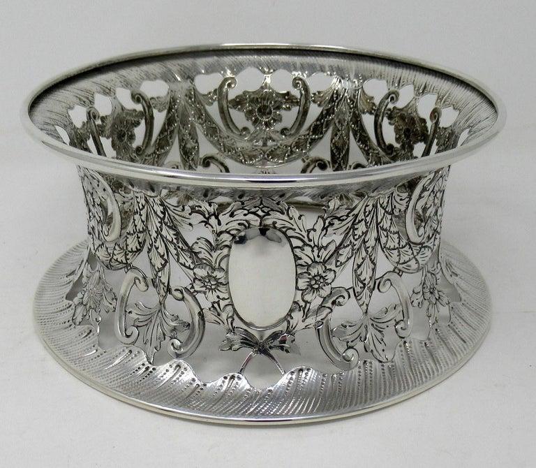 20th Century Large Irish Style Sterling Silver Dish Ring Birmingham 1913 Williams Ltd 14 ozs For Sale