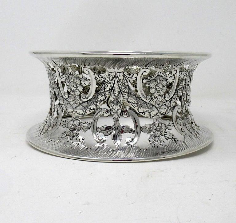 Large Irish Style Sterling Silver Dish Ring Birmingham 1913 Williams Ltd 14 ozs For Sale 1