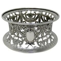 Large Irish Style Sterling Silver Dish Ring Birmingham 1913 Williams Ltd 14 ozs