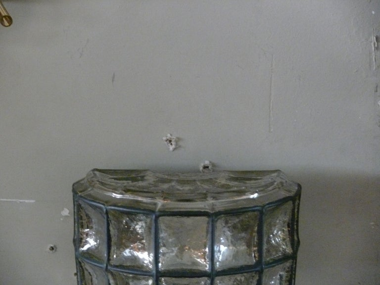 Large Iron and Glass Sconces For Sale 1