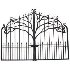 Large Iron Entry Gate