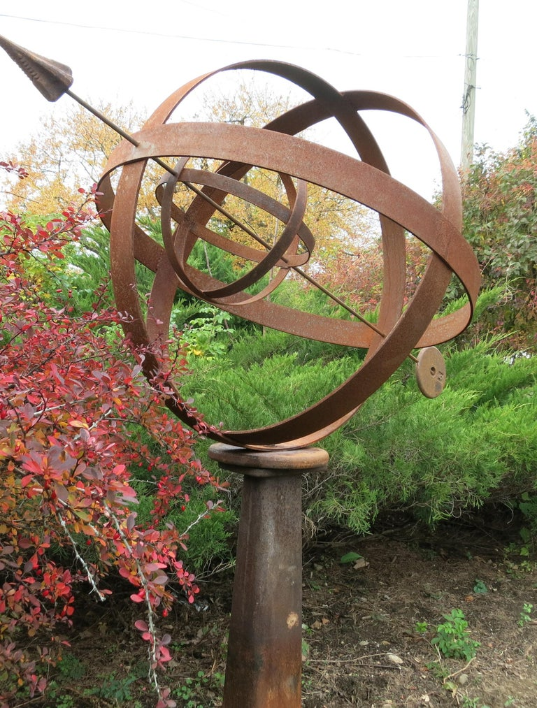 Large Iron Garden Armillary Artisan Made For Sale 2