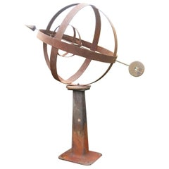 Large Iron Garden Armillary Artisan Made